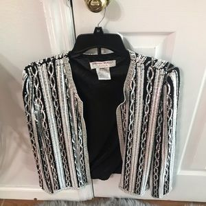 Adriana papell embellished blazer